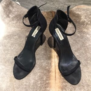 Steve Madden Crash Two Strap Black Heel Stiletto